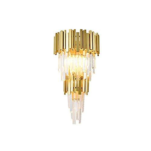 Moderne luxe gouden achtervoeging hangende kristallen kroonluchteruitgang lamp KTV hotelrestaurant decoratielampen wandlamp koud wit