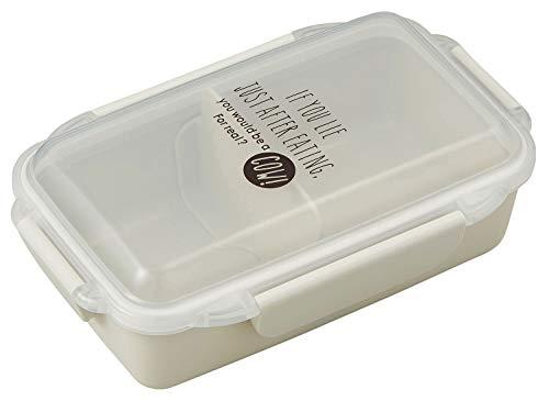 オーエスケー DISH UP LUNCH 4点ロック式 お弁当箱(仕切付) クールグレー PCD-500