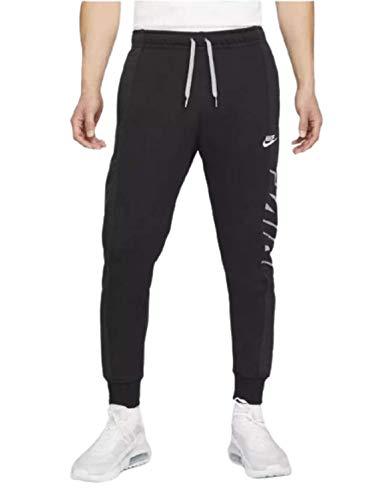 NIKE Sportswear Pantalones Deportivos, Negro/Negro/Gris partícula/Blanco, Large para Hombre