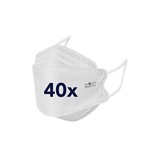 bamb FFP 2 Maske CE Zertifiziert | 40 Stück | CE 1463 (EN149:2001+A1:2009) | Einweg Mund und Nasenschutz FFP2 | Mundschutz