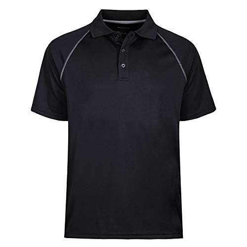 MOHEEN Men's Short Sleeve Pique Original Fit Polo Shirt (XL,Black)
