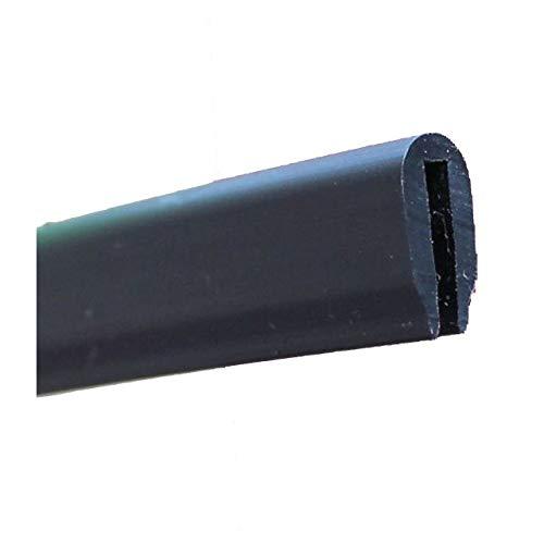 EUTRAS-Kantenschutz 2072 Eutras KSO4005-Paraspigoli in PVC, 1,3 mm, Profilo a U, Nero, 3 m