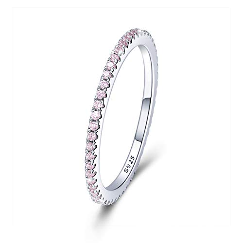 Anello da fidanzamento/matrimonio Eternity in argento Sterling 925 e zirconia cubica e Argento, 61 (19.4), cod. FAR066-9J+gift