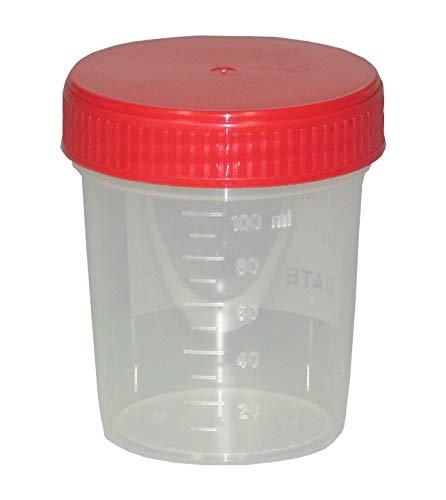 20 Urinbecher 125 ml Probebecher + 1 Glasbeutel
