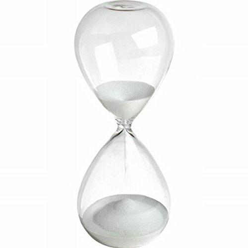 Winterworm - Reloj de arena de colores de cristal grande para la decoración del hogar