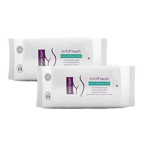 Multi-Gyn InfiFresh Bio-aktive Feuchttücher zur Intimhygiene – 12 Feuttücher, wiederverschließbar (x2)