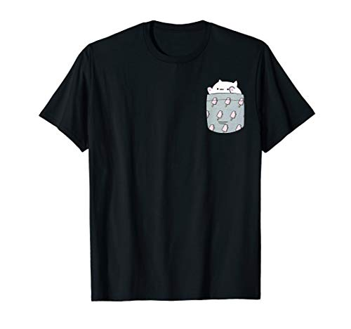 Bongo Cat T-Shirt Funny Cute Meme cat Pocket tee T-Shirt