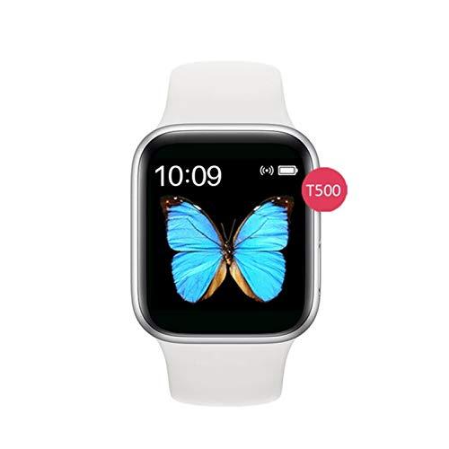 LYB Pulsera Inteligente Fitness Tracer Android Smart Watch 5 Teléfono Tarifa Cardíaca Presión Arterial Relojes Intelijentes (Color : White)