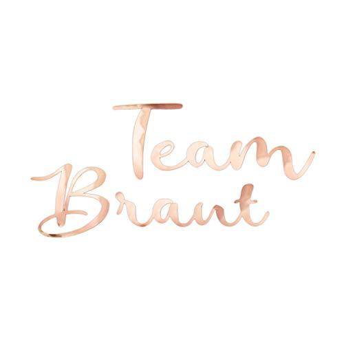 Oblique Unique® Bügelbild für JGA Junggesellinnenabschied Hochzeit - Braut - Team Braut - Braut Crew - Braut Security Bilder zum Aufbügeln Roségold (Team Braut)