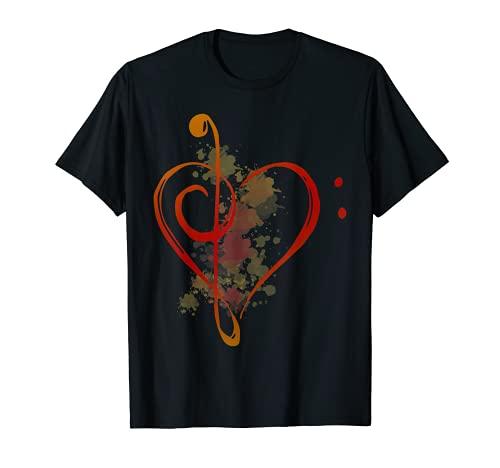 Nota musical Corazón Camiseta