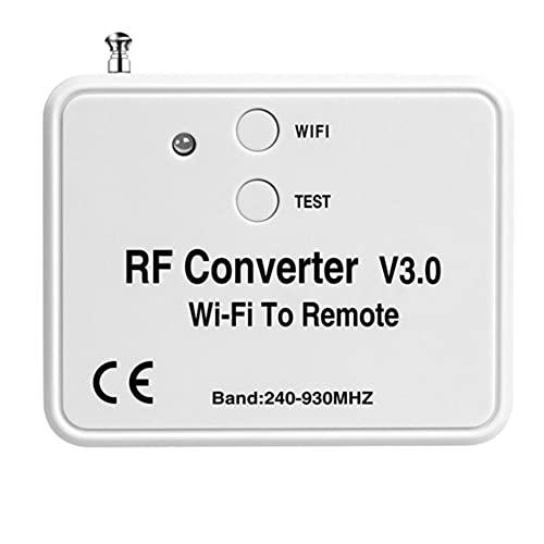 SIGNABOT Convertidor de Control Remoto WiFi RF Radio Frecuencia WiFi Control Remoto 240-930Mhz para Puerta de Garaje de Casa Inteligente