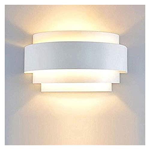 JNWEIYU Lámpara de Pared Interior DIRIGIÓ Moderno diseño Creativo Pared luz Metal Blanco iluminación Sala de Estar Sala de Estar Sala de Estar Dormitorio Pasillo Pasillo Interior iluminación Interior