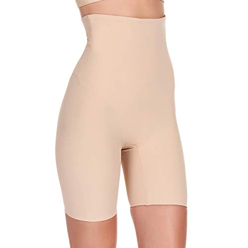 Fianmy Women's Shapewear High Waist Seamless Body Shaper Butt Lifter Panty Tummy Control Thigh Slimmer(Beige,XL)