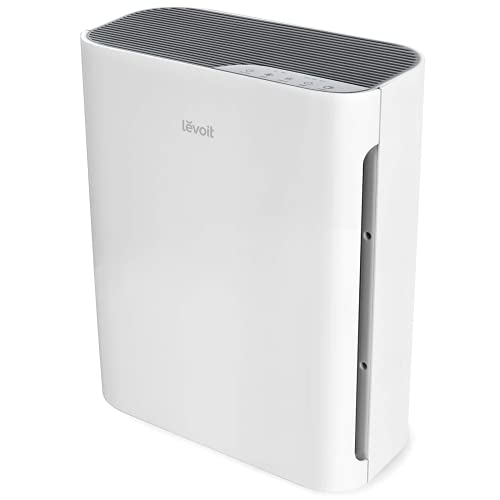 LEVOIT Air Purifier for Home Large Room, H13 True HEPA Filter Cleaner with Washable Filter for Allergies and Pets, Smokers, Mold, Pollen, Dust, Ozone Free, Quiet Odor Eliminators, Vital 100 (White)
