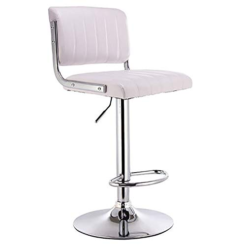WJT-Barstool Modern Minimalist Bar Stool Bar Chair Backrest High Stool High Stool Lifting Chair Size: 38.5×38.5×63-83cm (Color : White)