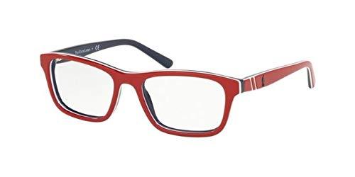 Ralph Lauren POLO 0PP8536 Monturas de gafas, Top Red/White/Blue, 47 para Hombre