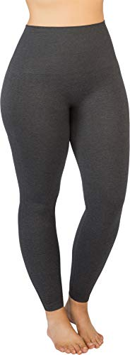 SPANX Look at Me Now Seamless Leggings Heather Charcoal 3X - Regular