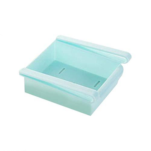 Inicio Refrigerador Caja de Almacenamiento Contenedor de Alimentos Cajón Organizador de clasificación Fresca Azul
