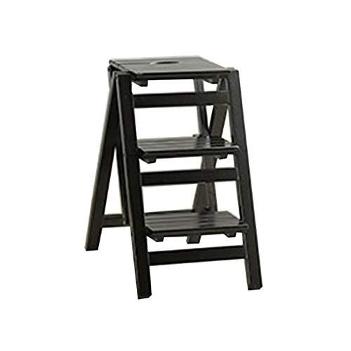 Solid Wood Multifunción Escaleras, Save Space Pasos De Plegamiento Interior Robustos Durable...