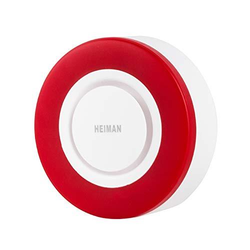 Heiman Zigbee Alarm Sirene 95db, Zigbee, Kompatibel mit Home Assistance, Deconz und Conbee Zigbee Sirene