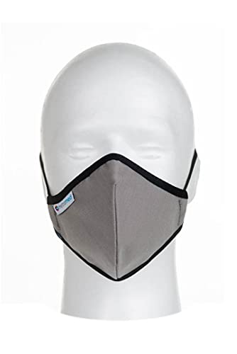 Mascarillas higiénicas Homologadas de tela reutilizables. Gris, Talla 3, 1 Unidad.