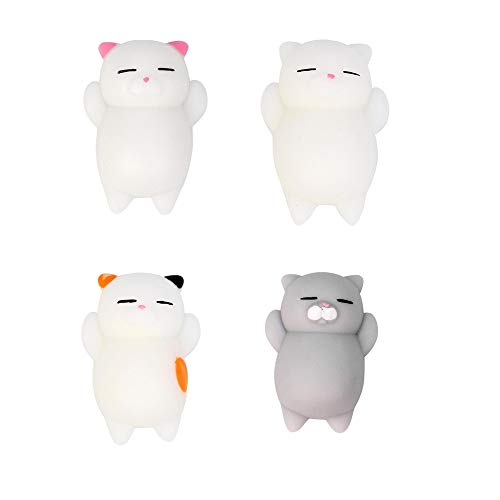 Tonsee Squishy SpielzeugSqueeze 4 pcs Set Slowly Rising Toy für Stress Relief Niedlich Katze Spielzeug für Kinder Erwachsene Handy Weihnachten Geschenk