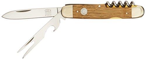Güde Taschenmesser ALPHA-EICHE Serie Klingenlänge: 7 cm Fasseichenholz, E725/07, Messer - Solingen - Deutsche Qualität, robust - scharf - geschmiedet - hochwertig