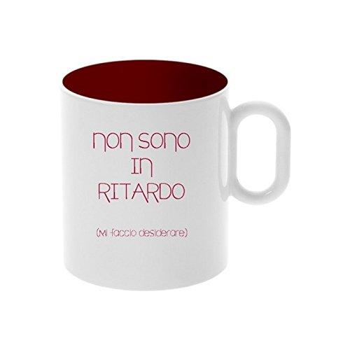 My Custom Style Tazza In Ceramica da 325ml 'Non Sono In Ritardo' - 1 tazza