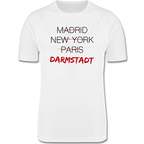 Shirtracer Städte - Weltstadt-Darmstadt - S - Weiß - Darmstadt - F350 - Herren Laufshirt