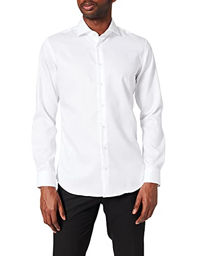 Seidensticker Herren X-Slim Langarm Twill Hemd, Weiß (Weiß 01), (Herstellergröße: 38)