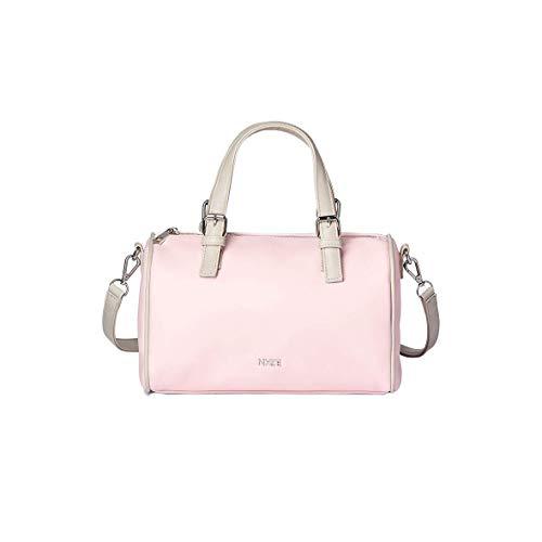 NYZE Damen Bowling Bag by LauraJoelle - 100% Vegane Handtasche/Henkeltasche Rosa