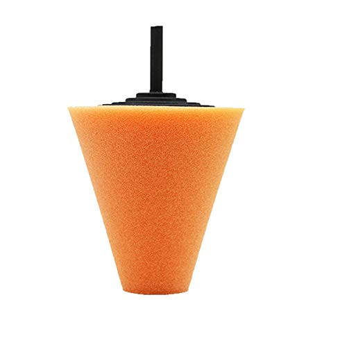 Xianggujie Coche Pulido Esponjas Pad Limpieza Limpieza Coche Neumáticos Rueda Rueda Rueda Polidaje Máquina de Pulido Forma de Cono Concentradores de Ruedas Disco de pulidor (Color : Orange)