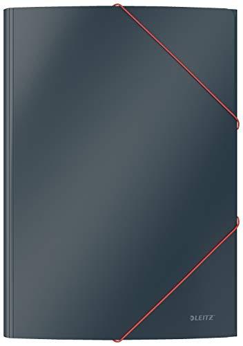 Leitz A4 Eckspannermappe, Für 150 Blatt, Samtgrau, Cosy-Serie, 30020089