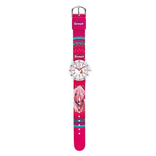 Scout Mädchen-Armbanduhr Analog Quarz Textil 280378071