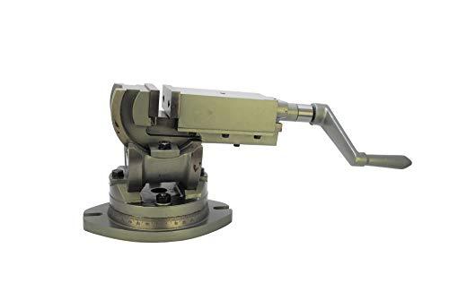 Proops H4414 Präzisions-Schraubstock für Fräsmaschine, 100 mm Backenbreite, 3-Wege-Drehgelenk und Neigungswinkel, Schraubstock Hochwertiges Produkt.