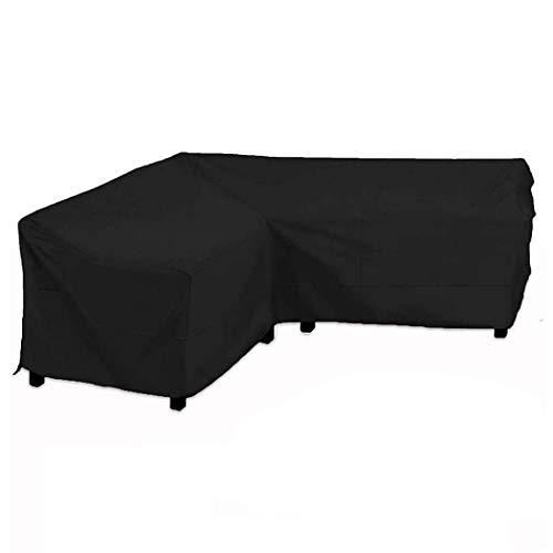 InkFenm Garden Furniture Covers Sofa, Patio Furniture Cover L Shape, Outdoor Garden Corner Cover Waterproof Anti-Dust Sun Protection Garden Furniture Cover,200 * 270 * 82cm