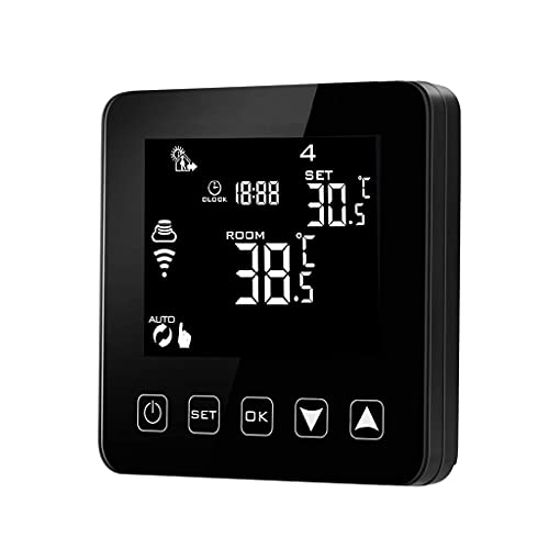Termostato programable WiFi DealMux Echo Alexa control de voz Calefacción eléctrica por suelo radiante Controlador de temperatura ambiente 16A 100-240 V