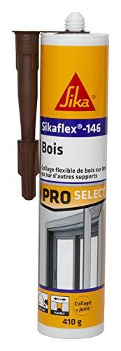 Sikaflex-146 - Pegamento de fijación especial para madera, masilla adhesiva para todos los soportes de madera y mampostería, pegado y calafatrado en interiores y exteriores, 290 ml