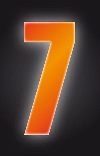 Autocollants à poubelles numérotés 17 cm - 7-Couleur Orange haute visibilité