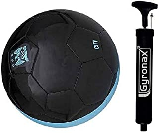 Gyronax Mancity (Blue/White) Replica Football, Size-5+with Pump&Niddle