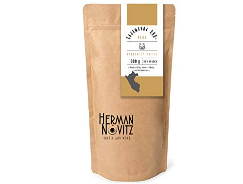 HERMAN NOVITZ Cajamarca SHB Peru Speciality Coffee | Premium Coffee Beans | Peru Coffee with Citrus Acidity Caramel Aftertaste | Arabica Coffee Pack | Fresh Roasted Coffee Beans… (1)