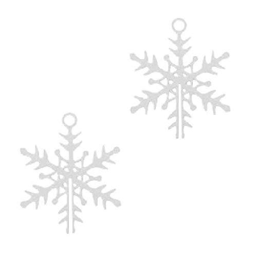 Sadingo Sieradenhanger Charms Bohemian sneeuwvlok - 2 stuks - 16 x 13 mm - dun, licht, DIY sieraden, macramé, ketting
