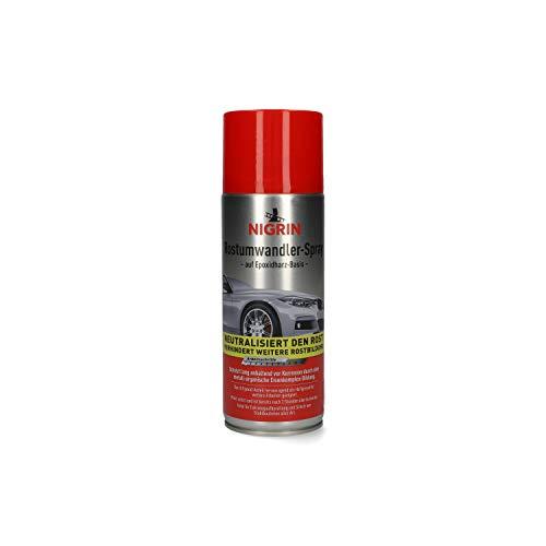 Nigrin 74107 Rostumwandler Spray, 400 ml, Korrosionsschutz Lack mit rostumwandelnden Eigenschaften, langanhaltender Korrosionsschutz