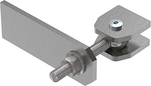 Torband M12 / Halterung verstellbar mit Langlochlasche   Stahl S235JR, roh, M12