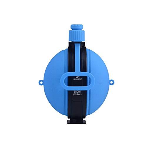 Botella De Agua Militar Plegable Recién Diseñado Cantimplora De Silicona Hervidor De Agua Con Tapa De Botella De Agua Vintage Compass Drinkware, Azul Cielo, 580 Ml