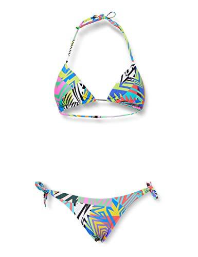 Arena W Allover Triangle Two Pieces, Bikini A Triangolo, 2 Pezzi Donna, Multicolore (Ash Grey Multi), 46