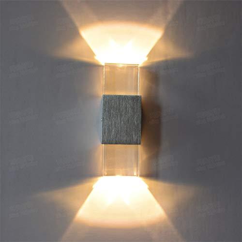 Wandleuchte LED Wandleuchten Innen- Und Innenleuchten Aluminium Crystal Brushed Wandleuchte Acryl...