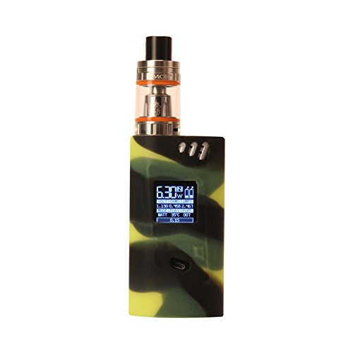 Protective Silicone Case Cover for Smok Alien 220W Kit Cover Sleeve Wrap Shield,Black+Green