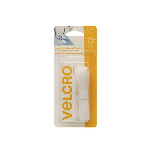 VELCRO Brand 90320 0364628 Soft & Flexible Sew On Tape Roll 5/8in x 30in Beige