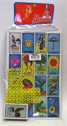 Amazon.com: La Mexicana Loteria Mexicana 10 Tablas Mexican Bingo Game, 10 Playing Cards: Toys & Games